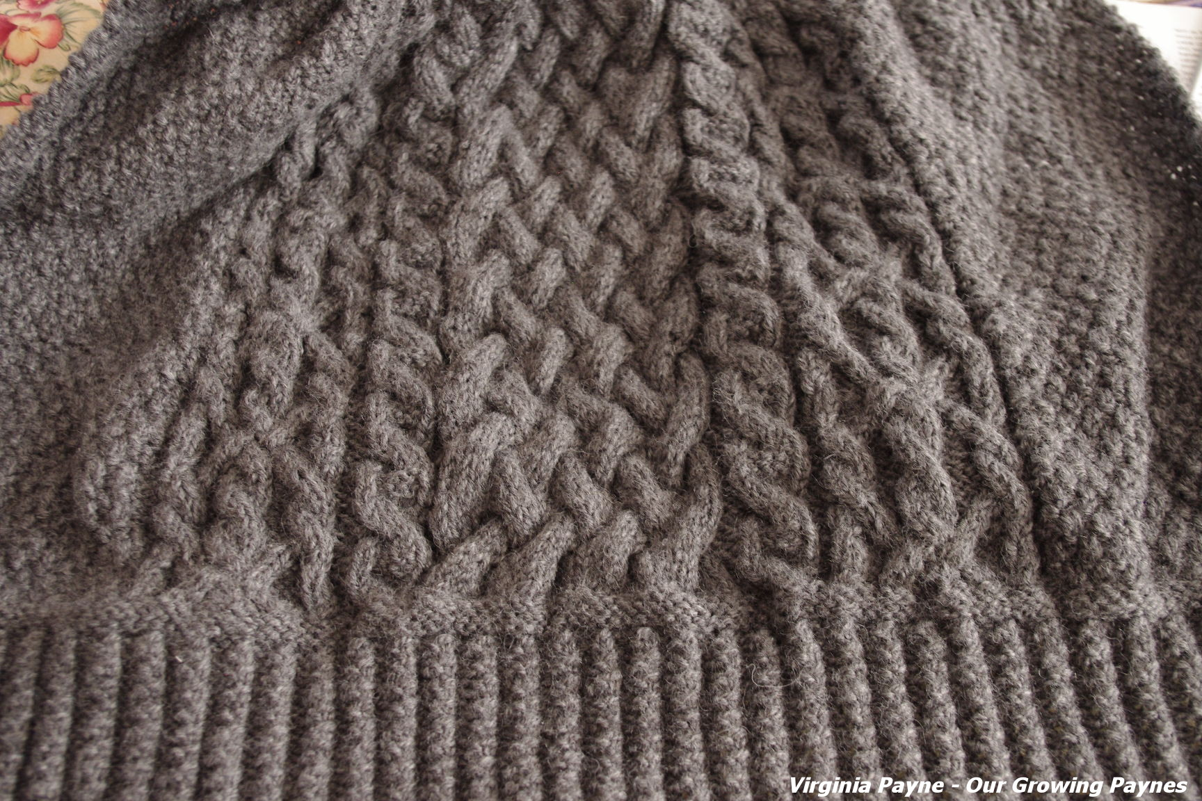 Aran Knitting Patterns : Aran knits Our Growing Paynes