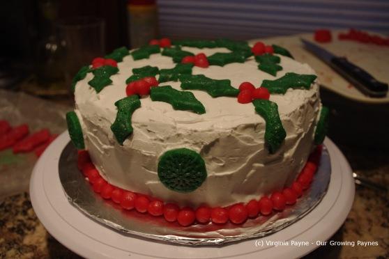 Christmas cake 26 2012