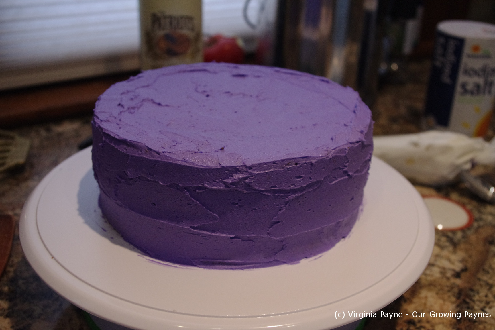 Ice the whole cake smoothing as best you can. Isn't this a great ...