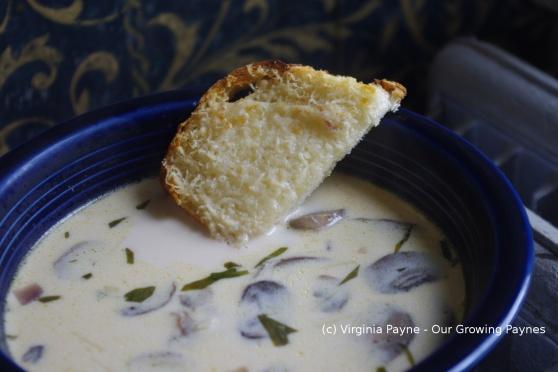 Mushroom tarragon soup 5 2014