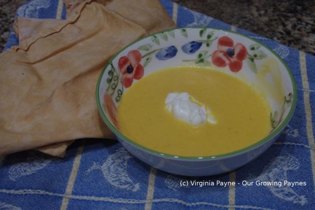 Carrot ginger soup 4 2014
