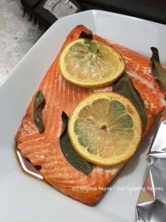 Cedar grilled salmon 6 2015